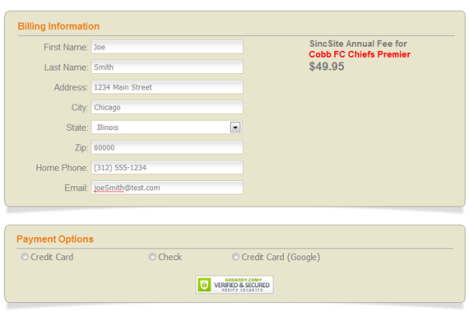 Payment screen and PayPal PayFlow